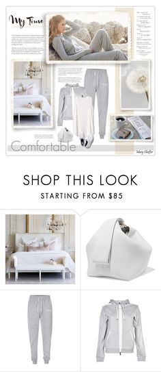 """Comfortable"" by mcheffer ❤ liked on Polyvore featuring Cassia, Victoria Beckham, Repeat, Nicce, Moncler and Gap"