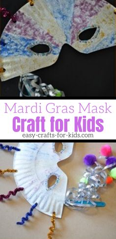 Master Bedroom Decorating Concepts - DIY Crown Molding Set Up Mardi Gras Crafts For Kids. Make Your Own Carnival Mask From Paper Plates And Pipe Cleaner. Paper Plate Crafts For Kids, Crafts For Girls, Easy Crafts For Kids, Toddler Crafts, Preschool Crafts, Preschool Ideas, Craft Activities, Craft Ideas, Mardi Gras Centerpieces