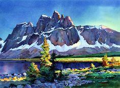 Twilight Settles on the Ramparts in the Tonquin Valley, Jasper. Greg Johnson