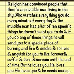 religion is bullshit...by George Carlin