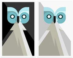 Charley Harper Owls