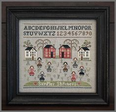 Sampler Stitchers From Little House Needleworks - Cross Stitch Charts - Cross Stitch Charts - Casa Cenina