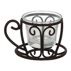 Teacup / Coffecup Wrought Iron Candle Holder Votive for Tabletop by Olivia Wong, http://www.amazon.com/dp/B0081I9S3I/ref=cm_sw_r_pi_dp_KfTsqb1BEV9QE