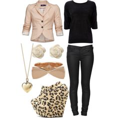 cheetah shoes Want this outfit(: