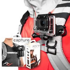 Interesting way to clip a go pro for biking or hiking. Will love to try and make a DIY one.