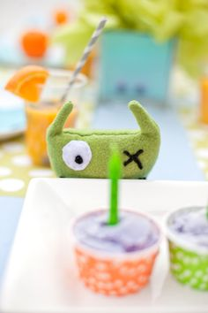 Monster Party Galore / Lots of Ideas   From Invites to Food, to stuffed Monsters to make for each child... Very cute