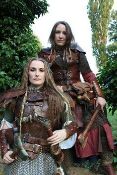 viking shield maiden costume - Google Search