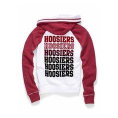 Indiana University flocked zip hoodie - Victoria's Secret - Polyvore