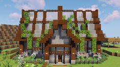 A build from Grian i built as a shop in our realm. : Minecraft A build from Grian i built as a shop in our realm. Villa Minecraft, Chalet Minecraft, Minecraft Bauwerke, Minecraft Greenhouse, Architecture Minecraft, Casa Medieval Minecraft, Minecraft Shops, Construction Minecraft, Images Minecraft