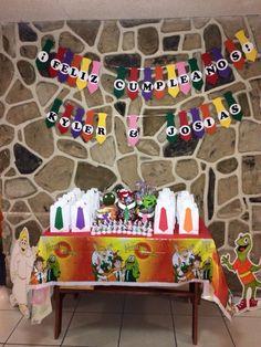 Mesa de regalos para invitados y candy bar de Atención Atención.