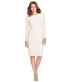 Lauren Ralph Lauren Sequin Lace Sheath Dress #Dillards