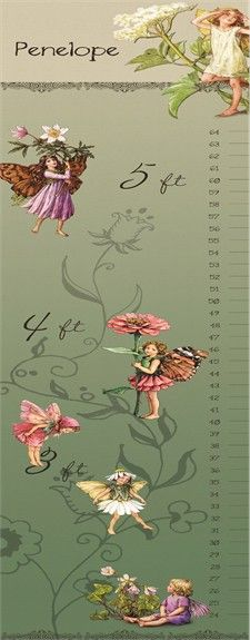 Rosenberry Rooms has everything imaginable for your child's room! Share the news and get $20 Off  your purchase! (*Minimum purchase required.) Flower Fairies Personalized Growth Chart #rosenberryrooms
