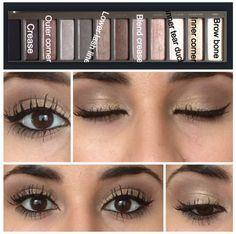 Naked 2 Natural Everyday Eyeshadow: Apply Foxy - new_make_up_pintennium Kiss Makeup, Love Makeup, Makeup Inspo, Makeup Inspiration, Beauty Makeup, Beauty Tips, Makeup 101, Makeup Geek, Makeup Trends