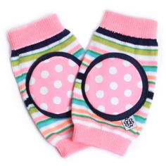 Cotton Candy Stripe Happy Knees Crawling Knee Pads.  #laylagrayce #new #kids