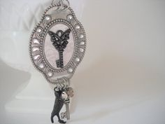 Black Key Charm Statement Necklace Charm by TheOmbrePoodle on Etsy, $15.00