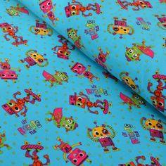 Little Robots: euro jersey knit. Robots, Euro, Kids, Fabrics, Awesome, Young Children, Tejidos, Children, Robotics