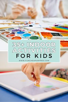 If your kids are stuck at home for spring break, summer, or sudden school closures, you might be wondering how to keep them busy. Look no further, we've rounded up the BEST indoor activities for kids as well as everyday fun activities for kids so you can stay productive and keep everyone's sanity intact. Indoor Activities For Kids, Kid Activities, Educational Activities, Diy Crafts For Kids, Fun Crafts, Edible Finger Paints, Abc Mouse, School Closures, Easy Art Projects