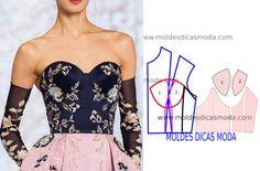 DIY Fashion Ideas – What you Need to be Creative – Designer Fashion Tips Corset Sewing Pattern, Bodice Pattern, Bra Pattern, Dress Sewing Patterns, Clothing Patterns, Fashion Sewing, Diy Fashion, Ideias Fashion, Diy Clothing