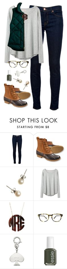 """""""puffer vest"""" by classically-preppy ❤ liked on Polyvore featuring J Brand, L.L.Bean, J.Crew, Organic by John Patrick, Warby Parker, Kate Spade and Essie"""