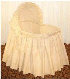 Angelica Bassinet by Blauen Baby first bed. Angelica Bassinet by Girl Cribs, Baby Cribs, Baby Girl Bassinet, Cradles And Bassinets, One Bed, Crib Skirts, Crib Bedding, Cool Baby Stuff, Baby Love