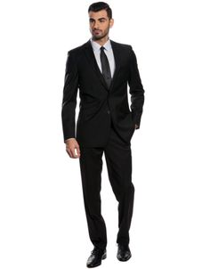 The Black Slim Fit Suit by Combatant Gentlemen