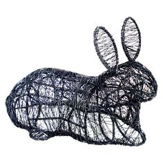 Threshold Outdoor Filigree Bunny Statuary $12.99 Powder-coated, Rust-resistant General Material: Steel Dimensions: 11.100L x 4.600W x 12.600H