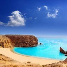 Playa del Papagayo en Lanzarote Islas canarias
