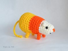 Adventure Time-inspired Science the candy corn rat who saves everyone from the candy zombies!