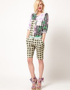 I wish this shirt were for sale!! Enlarge ASOS AFRICA Shorts In Small Geo Print