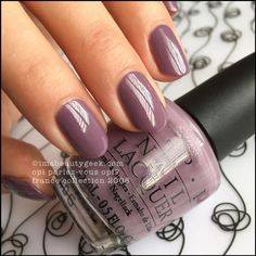 Nail art is a very popular trend these days and every woman you meet seems to have beautiful nails. It used to be that women would just go get a manicure or pedicure to get their nails trimmed and shaped with just a few coats of plain nail polish. Mauve Nails, Opi Nails, Nail Polishes, Purple Shellac Nails, Shellac Nails Fall, Gradient Nails, Nail Nail, Gorgeous Nails, Pretty Nails