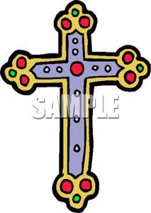 Jesus Being Crucified on a Cross - Royalty Free Clipart Picture ...
