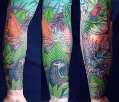 scenery tattoos | Looking for unique Nature Animal Frog tattoos Tattoos? jungle scene