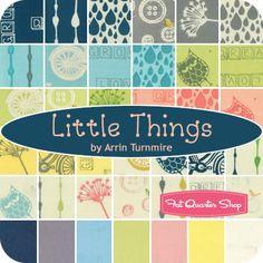Little Things Organic Fat Quarter Bundle Arrin Turnmire for Moda Fabrics