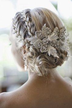 Preciosos tocados de novias   Peinados con estilos