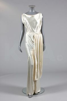 Evening Gown, Early 1930's, British, Made of satin