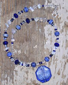 Cobalt Blue and Opal Choker