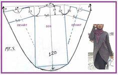 Drape Dress Pattern, Abaya Pattern, Jacket Pattern, Dress Sewing Patterns, Sewing Patterns Free, Clothing Patterns, Sewing Clothes, Diy Clothes, Make Your Own Clothes