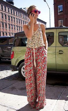 daytime pj glam...the pajama bottom, revitalised in a ditsy floral print.