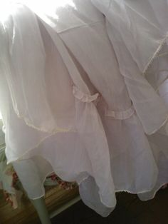 Barely Lilac Ruffle Sheer table cloth by MyShabbyValentine on Etsy, $35.00