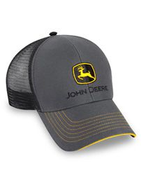 John Deere Charcoal and Black Corduroy and Mesh Hat 48e323b2d0f9