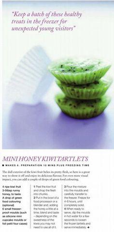 Mini honey kiwi tartlets