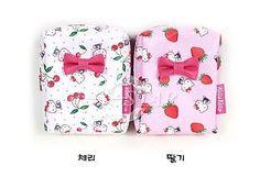 Hello Kitty Pouch Mini Bag Cherry StrawBerry Pattern