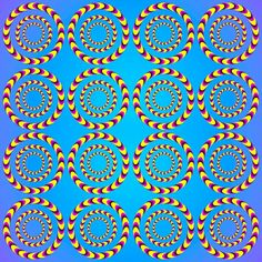 Spinning circle illusion