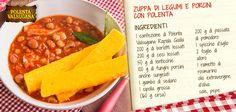 Amate le classiche #zuppe autunnali? Ve ne proponiamo una rivisitata con #funghi porcini e gustosa #polenta fritta.