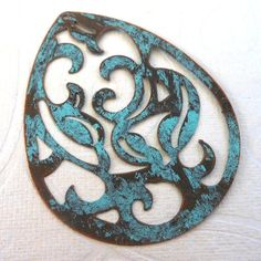 altered VERDIGRIS copper pendant by PalomaAntigua