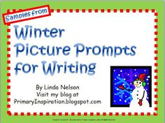 Classroom Freebies: Picture Prompts for Winter Writing