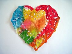 4 Crazy Kings: Valentines Day Craft: Painted Paper Doilies