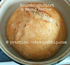 Sourdough Stater (2 ingredients) & Sourdough Bread Recipe (just 4 ingredients!)