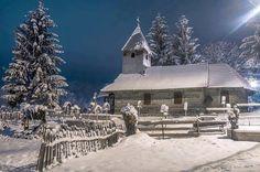 Winter by Ovi Timisoara on Cabana, Paris Skyline, Places To Visit, Barn, Christian, Adventure, Winter, Nature, Travel