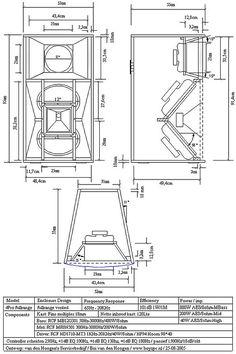 """BASS HORN четежи-1 (Plan""""s) RCF-4pro"""
